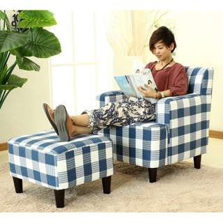 MODERN SOFA CHAIR WITH FOOT STOOL