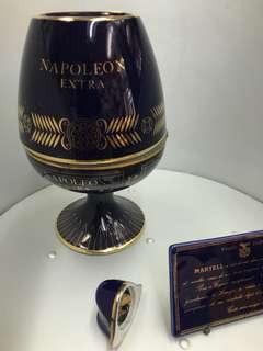Cognac martell napoleon extra 藍瓷吉樽不合完美