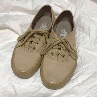(私)二手 VANS奶茶色帆布鞋