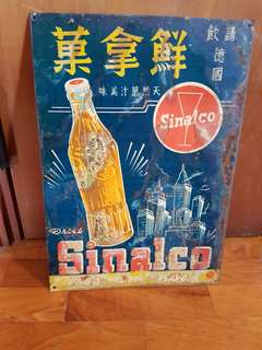 Vintage Sinalco Tin Sign board