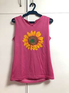 Pink Sunflower Top