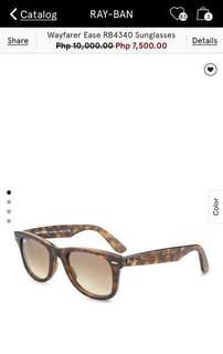 Authentic ray-ban wayfarers with case