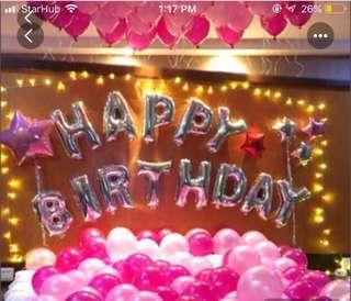 Happy Birthday Balloons (Sliver)
