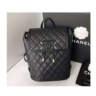 Authentic Chanel Filigree Backpack
