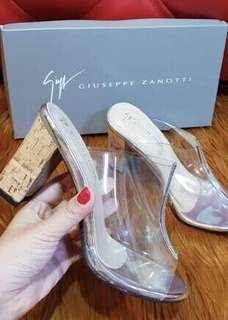 Transparent heels 8cm