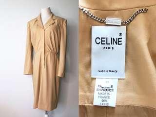 💯全新 真品 Auth Celine beige dress 法式簡約高級時裝淺駝色連身長裙