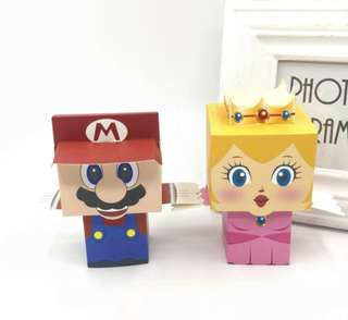 Super Mario & Princess Peach wedding  candy box