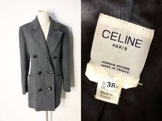 💯真品 很新 原價近過萬 Auth Celine jacket coat 氣質簡約法式風格外套