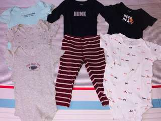 Preloved Carter's onesies bundle for P200 only