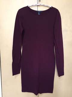 Forever 21 long sleeves fitted dress