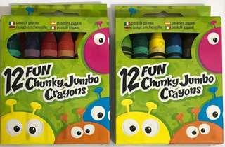 12 Fun Chunky Jumbo Crayons