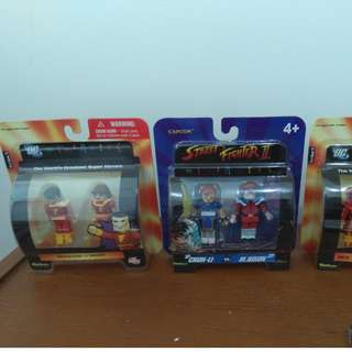 Minimates set of 3 DC Comics & StreetFighter 6 figures all MOC