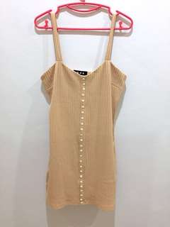 Ribbed/ Knitted Dress in Dusty Pink