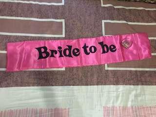 🚚 Bride to be / hen night sash