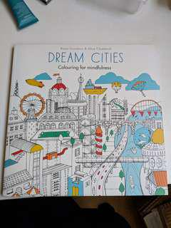 Dream Cities mindfulness colouring book