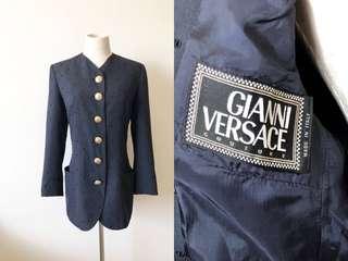 💯真品 近全新 Auth Versace blazer 經典金扣高級面料西裝外套