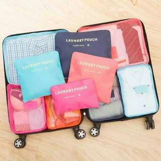 6 in 1 travel luggage organizer