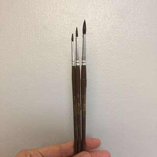 Raphael Petit gris Squirrel hair round brush set of 3