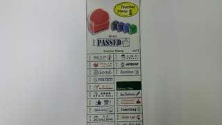 Teachers pre-stamp