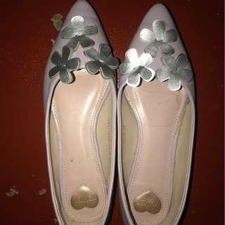 Velvet Purple Shoes Size 6
