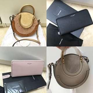 CHLOE / YSL crossbody bag / wallet