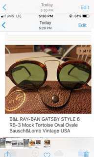 Rayban... gatsby. style 6...usa.