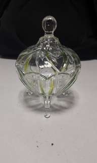 3 legged glass container