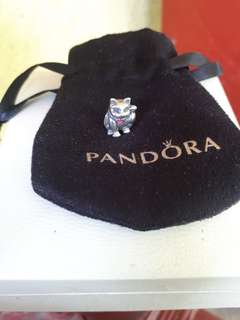 Pandora Waving Cat Charm