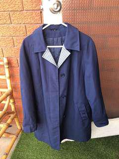 Navy coat size 12 (would fit 8-12)