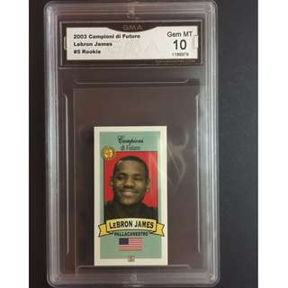 Lebron James Rookie Card 2003 Campioni di Futuro Original