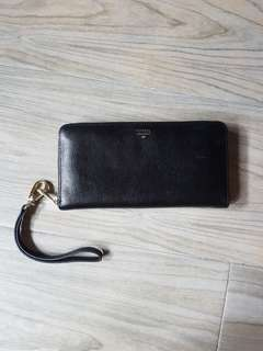 Fossil wallet leather clutch coach Kate Spade