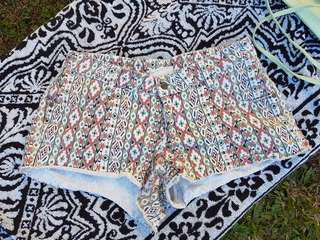 Somedays Lovin Aztec burning man Denim Shorts