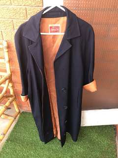 Vintage Navy dust coat