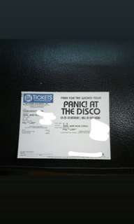 Panic at the disco 1 gen ad ticket