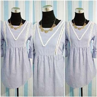 DRESS | Pinstripe