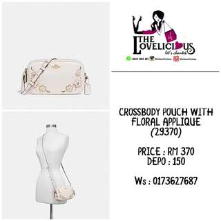 CROSSBODY POUCH WITH FLORAL APPLIQUE COACH F29370