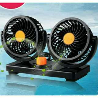 Double Head Car Fan