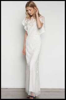 Stevie May lady of the night white boho wedding or rehearsal dress size small or 8/10 Rrp $350