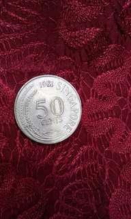 1981 $0.50 Singapore Coin