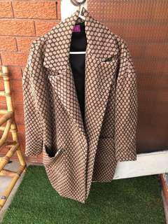Vintage beige box coat 8-12