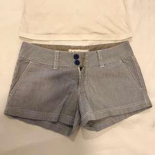 Striped Navy & White denim shorts #july100