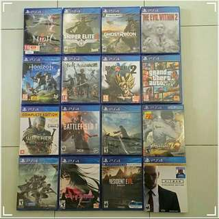 Ps4 Games (3 for RM200)