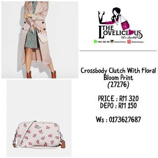 Crossbody Clutch With Floral Bloom Print 27276