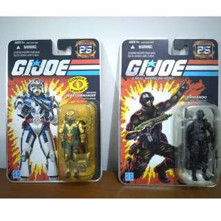 Snake-Eyes & Cobra Commander G.I. Joe 25th Anniversary Edition MOC