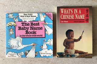 Baby Name Books - English & Chinese