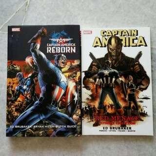 2 x Captain America comics (Marvel)