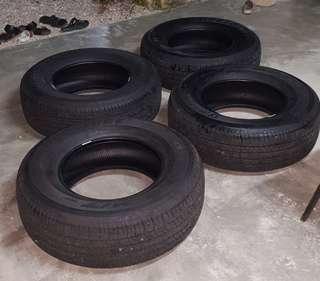 4 pcs tyre 255 70 16 Bridgestone Dueler HT