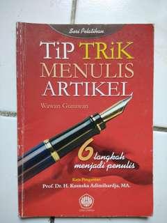 Buku Tip Trik Menulis Artikel