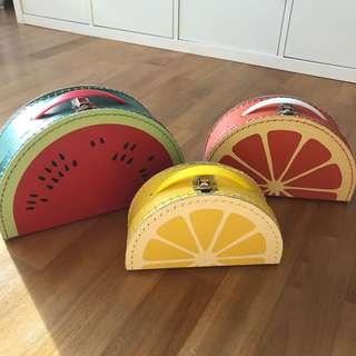 3 Cute fruit-themed bags