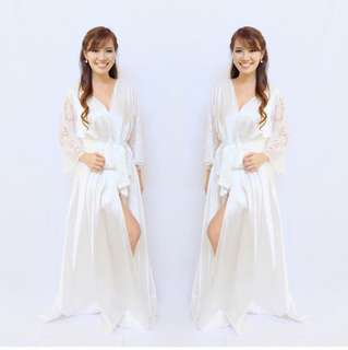 white isla bridal robe